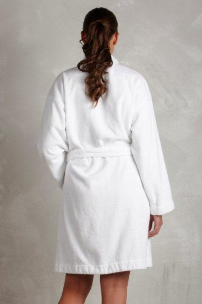 hvid badekåbe til kvinder