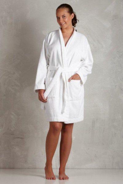 hvid badekåbe dame