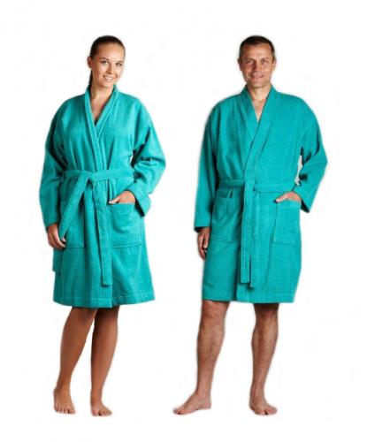 grøn badekåbe