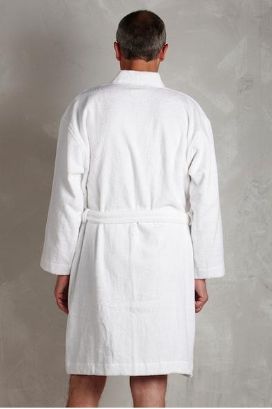 Storslået Hvid badekåbe til mænd og kvinder - Lav pris og hurtig levering OS51