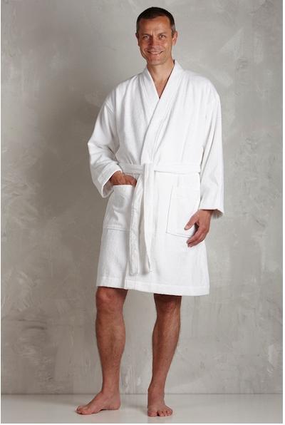 eae1a8b402d Hvid badekåbe til mænd og kvinder - Lav pris og hurtig levering
