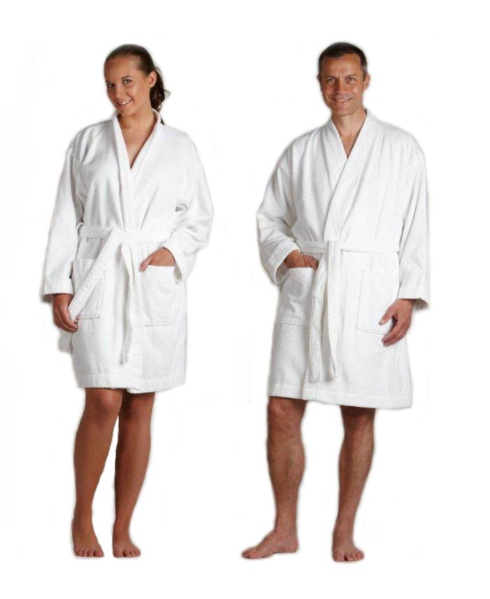 Forskellige Hvid badekåbe til mænd og kvinder - Lav pris og hurtig levering RH82